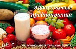 Молочно растительная диета после операции