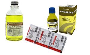 Полоскание горло фурацилином
